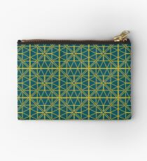 Green Triangle Pattern Studio Pouch