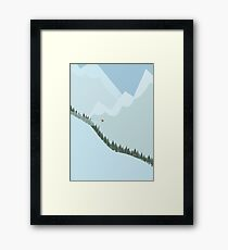 Lámina enmarcada Snowboard alpino