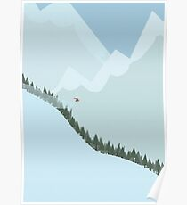 Downhill Snowboard Poster