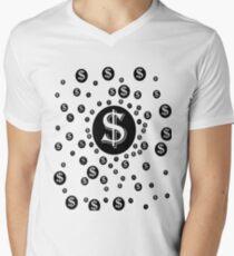 cool unique dollar design  Men's V-Neck T-Shirt
