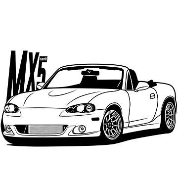 Mazda MX5 NB Best Shirt Design by CarWorld