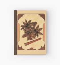 Art nouveau. Cinnamon and anise. Hardcover Journal