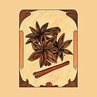Art nouveau. Cinnamon and anise. by Mari Anrua