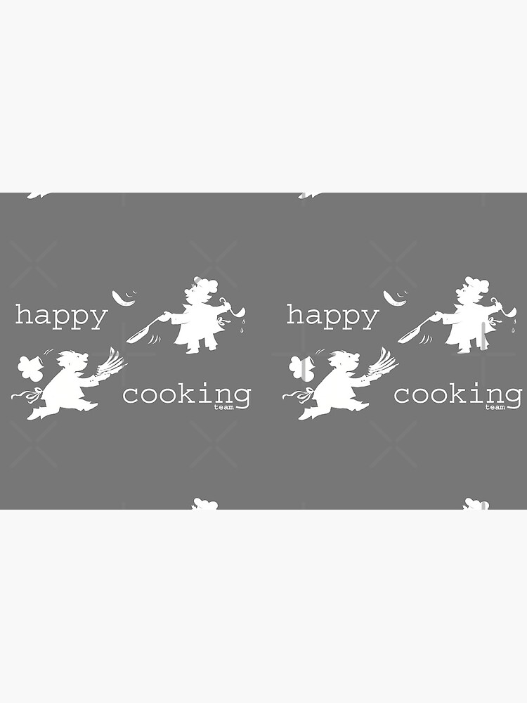 happy cooking team  · Delicious pancakes, happy cooks! (white) by reflejArte