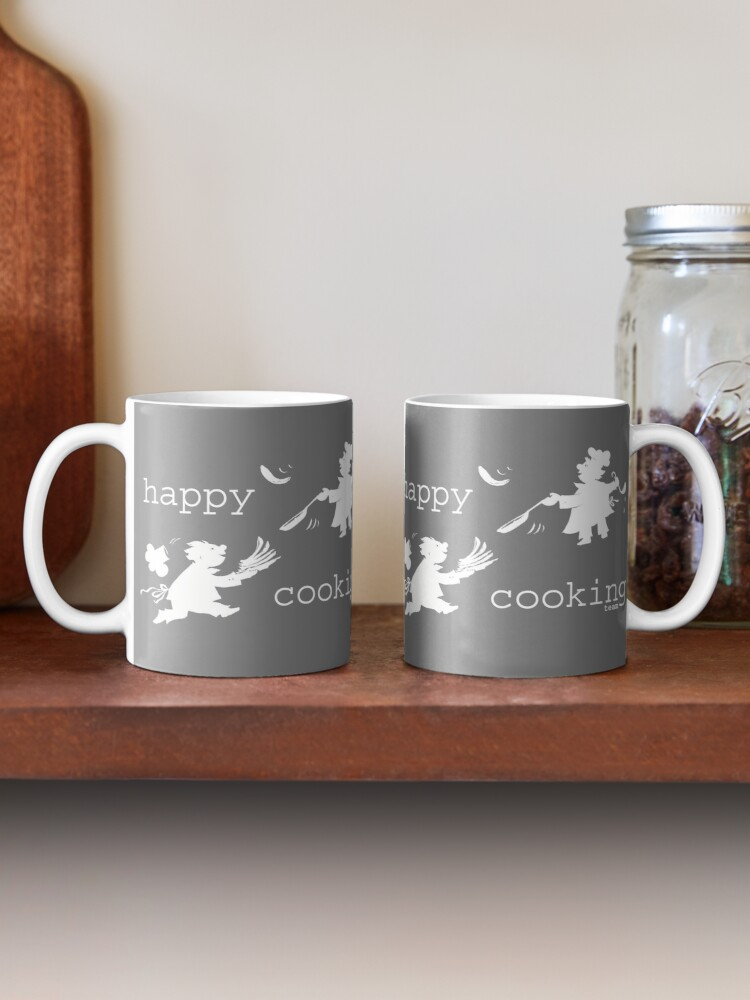 Alternate view of happy cooking team  · Delicious pancakes, happy cooks! (white) Mug