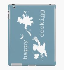 happy cooking team  · Tortitas apetitosas de los mejores chefs (blanco) Vinilo o funda para iPad
