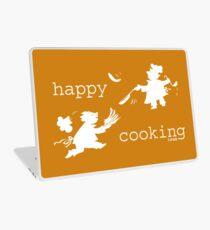 happy cooking team  · Tortitas apetitosas de los mejores chefs (blanco) Vinilo para portátil