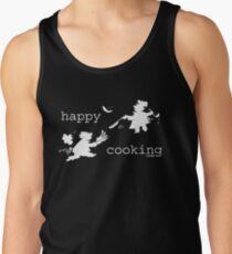 happy cooking team  · Tortitas apetitosas de los mejores chefs (blanco) Camiseta de tirantes