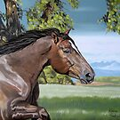 Galloping mare - After the Storm by Leenasart