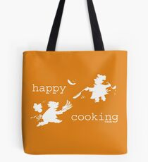 happy cooking team  · Tortitas apetitosas de los mejores chefs (blanco) Bolsa de tela