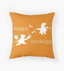 happy cooking team  · Tortitas apetitosas de los mejores chefs (blanco) Cojín