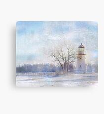 Cheboygan Crib Lighthouse - Michigan - Lake Huron Landscape Photograph Canvas Print
