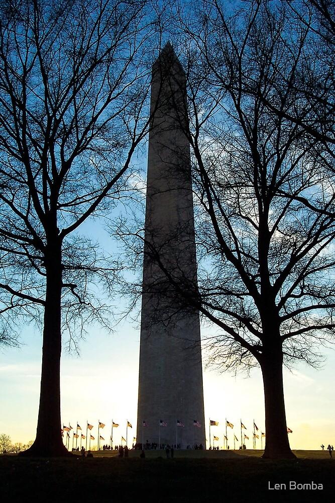 Washington Monument by Len Bomba