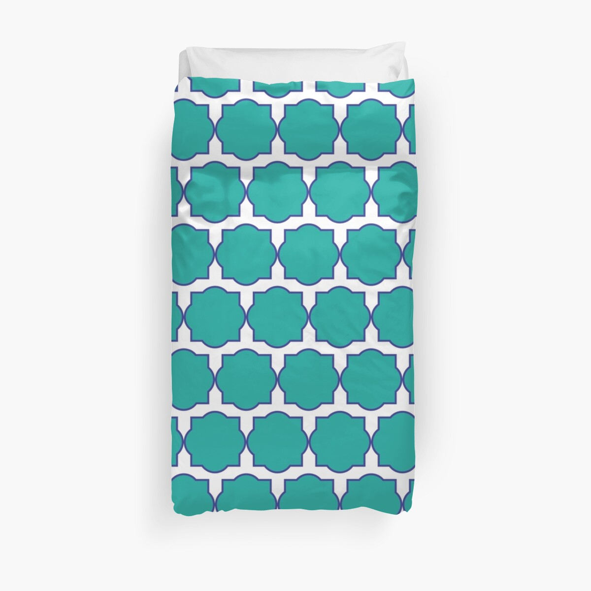 Turquoise Quatrefoil All Over Pattern by 2CreativeNomads