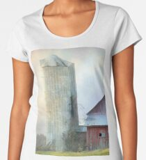Old Barns - Posen, Michigan Landscape Photograph Women's Premium T-Shirt