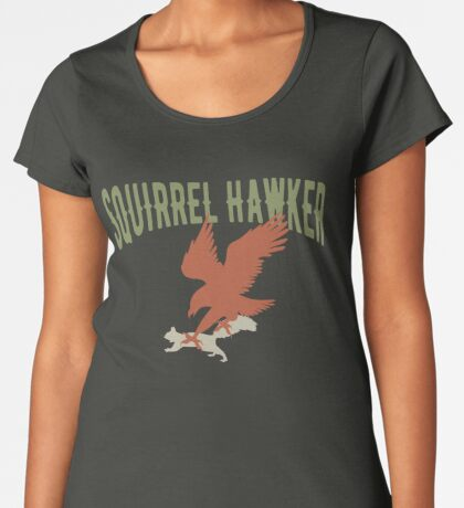 Falconer Squirrel Hawking T shirt, Falconers T-shirts Women's Premium T-Shirt