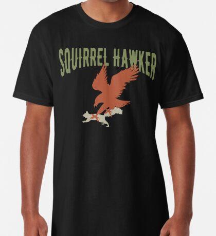 Falconer Squirrel Hawking T shirt, Falconers T-shirts Long T-Shirt