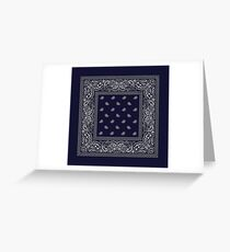 Crips bandana gang Iphone cases, scarves, ipad cases and more Greeting Card