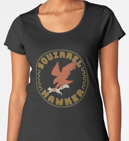 Falconer Squirrel Hawking T shirt, Falconers T-shirts and Gifts Women's Premium T-Shirt