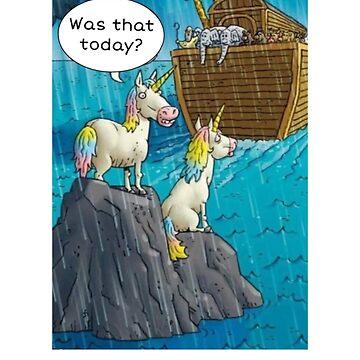 Cute funny Noah's ark unicorn tee shurt by TimShane