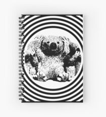 Cool koala retro style black white Spiral Notebook