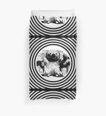 Cool koala retro style black white Duvet Cover