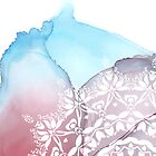 «Mandala sobre un fondo de tinta fluida.» de ApricotBlossom