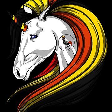 Uganda Flag Unicorn Ugandan Flag DNA Heritage Roots Gift  by nikolayjs