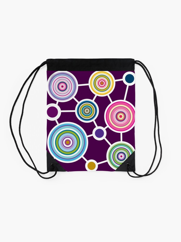 Alternate view of ROUND CONNECTION Drawstring Bag