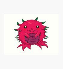 Dragon Fruit Dragon-Red Art Print