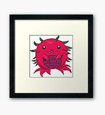 Dragon Fruit Dragon-Red Framed Print