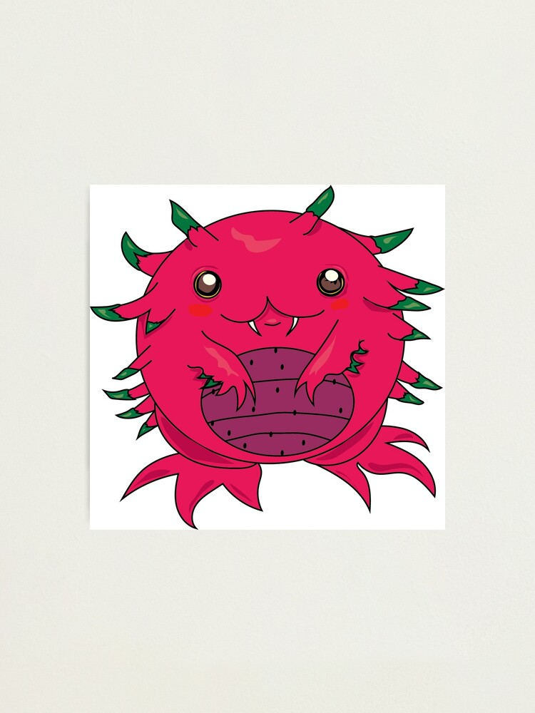 Alternate view of Dragon Fruit Dragon-Red Photographic Print