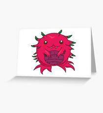 Dragon Fruit Dragon-Red Greeting Card
