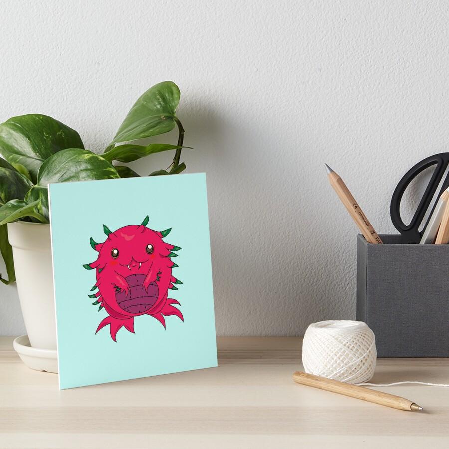 Dragon Fruit Dragon-Red Art Board Print