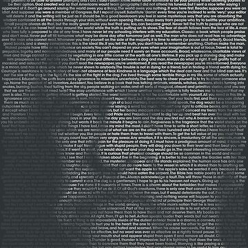 Mark Twain Quote Portrait by qqqueiru