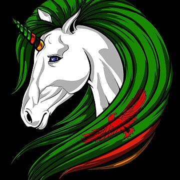 Zambia Flag Unicorn Zambian Flag DNA Heritage Roots Gift  by nikolayjs