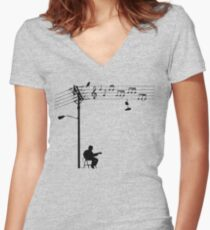 Wired Sound Women's Fitted V-Neck T-Shirt