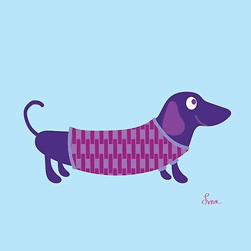 PURPLE DACHSCHUND by qwirkywirks