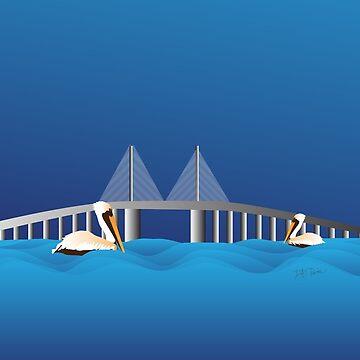 Sunshine Skyway Bridge by Devine-Studios