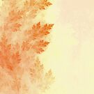 Conifer Pine Trees Ablaze in Autumn Beige Colors by Jaya Prime