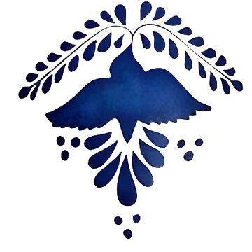 Vintage Type Blue Bird by VictorIos