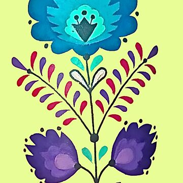 Blue And Purple Floral Pattern by VictorIos