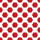 Fun Red and White Prints by livejoytoday