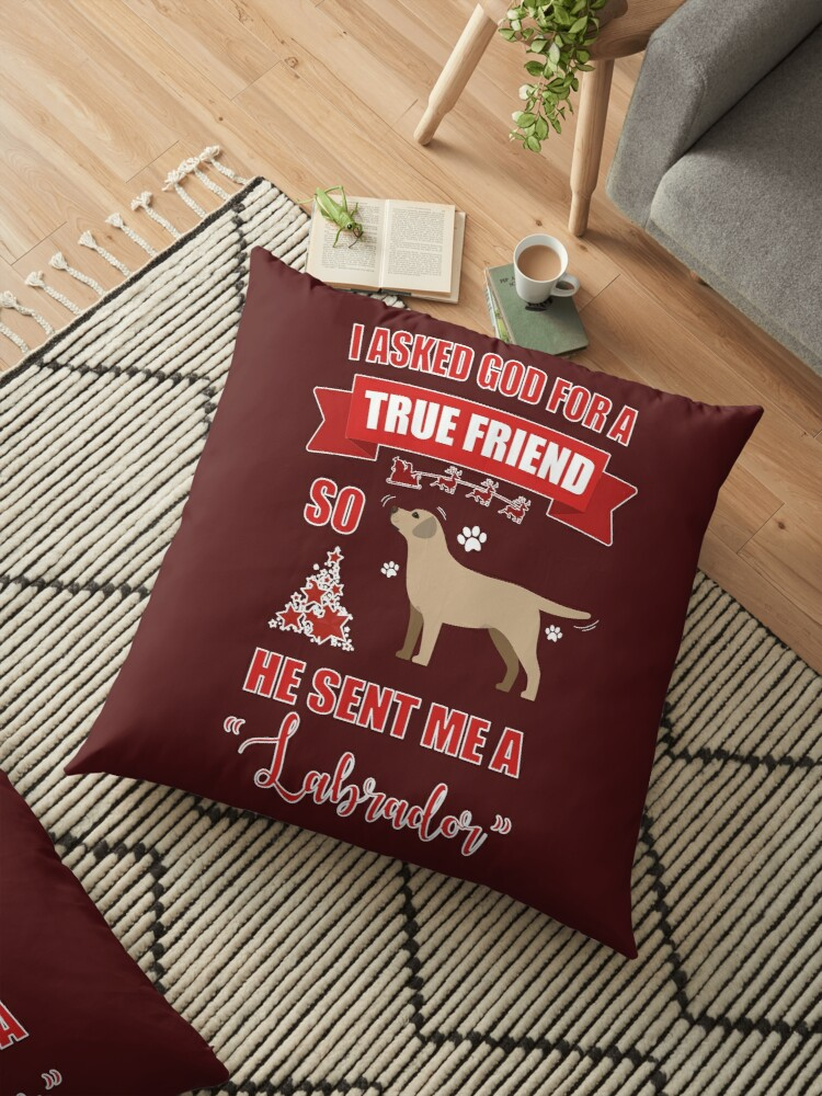 Dad Christmas Gifts.Labrador Mom Dad Christmas Gifts Floor Pillow By Galantishop