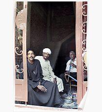 Shisha men - Luxor, Egypt Poster