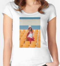 IU Women's Fitted Scoop T-Shirt