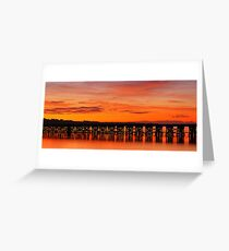 Reflected Trestle Greeting Card