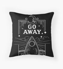 Ouija Board Seance Message - GO AWAY Throw Pillow