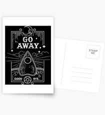 Ouija Board Seance Message - GO AWAY Postcards