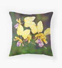 Pansy Orchid Throw Pillow